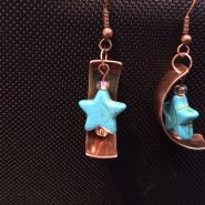 Copper and Stars Earrings